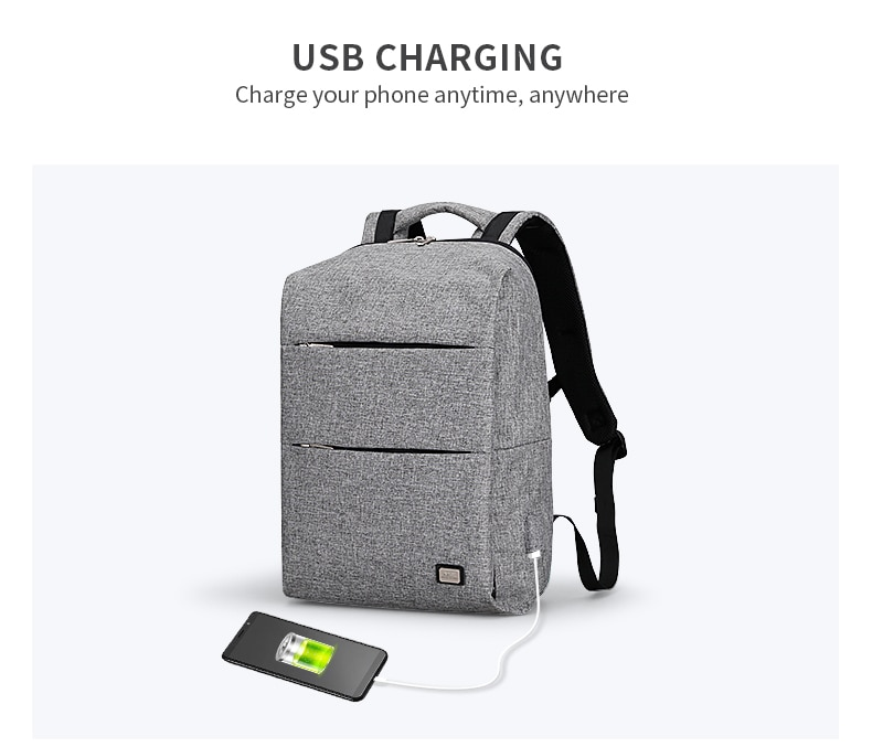High tech casual backpack for men