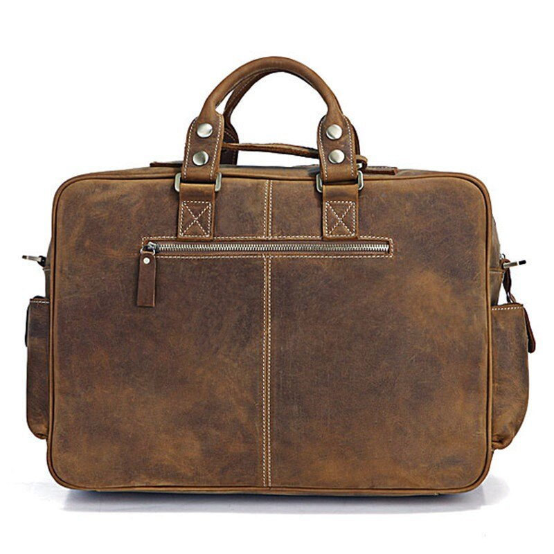 Vintage leather hand luggage for men