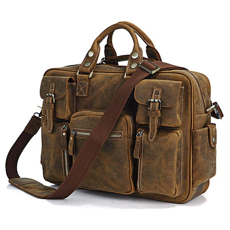 Genuine Leather Travel Bags for Men