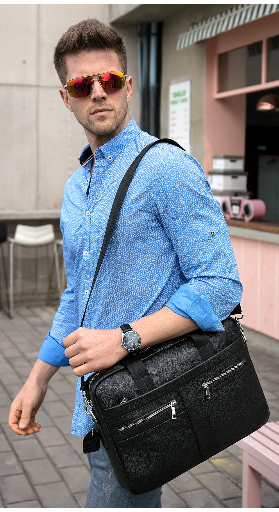 Briefcase for business men.