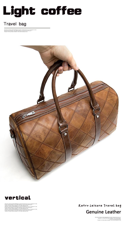 Bolso de viaje de estilo clásico realizado en piel vacuno de alta calidad.