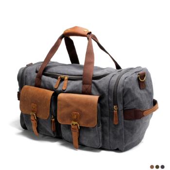 Best large canvas vintage style travel bag for men 2020.