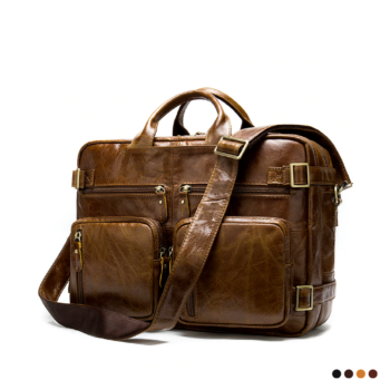 Multifunction carry-on luggage with numerous pockets and zip.
