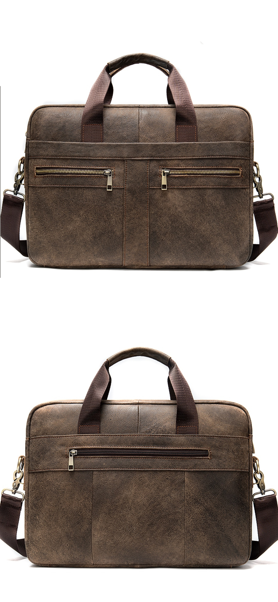 High-quality leather briefcase for business men.