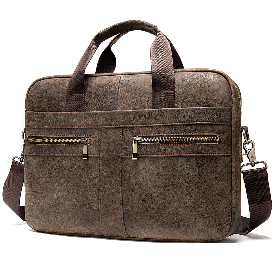 Leather briefcase for business men.