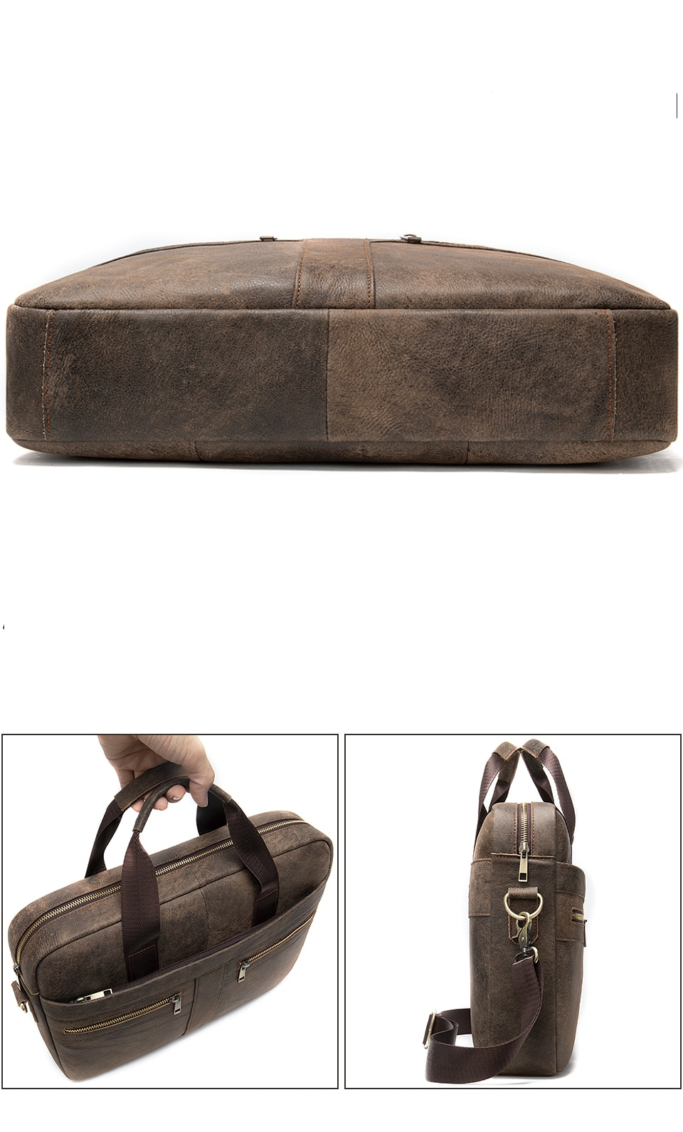 High-quality leather briefcase for men.