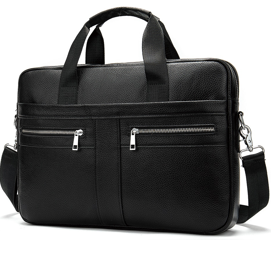 High-quality leather attaché case for men.