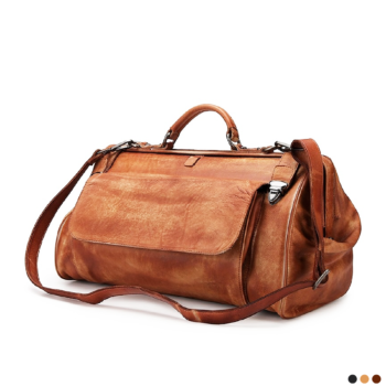 Beautiful retro-style travel bag. Comfortable and with a very elegant and masculine austere design.