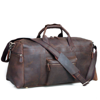 Large capacity travel luggage in a classic retro design with a touch of vintage.