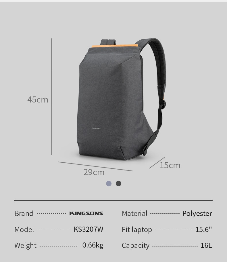 Best backpack with compact design, waterproof and anti-theft 2020.