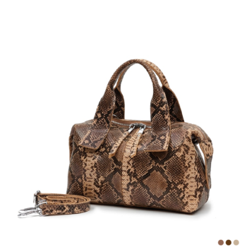 Best exclusive snake print tote bag in natural leather 2020.