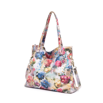 Best tote bag with floral print made of natural leather 2020.