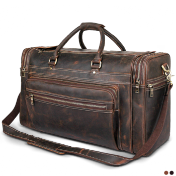 Best large capacity travel bag with a double metal zipper 2020.
